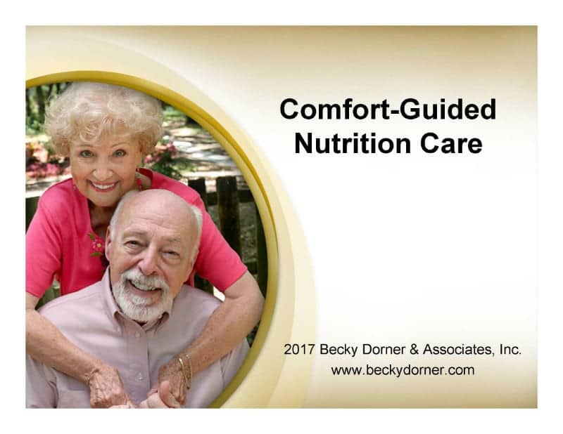 Comfort Guided Nutrition Care Inservice