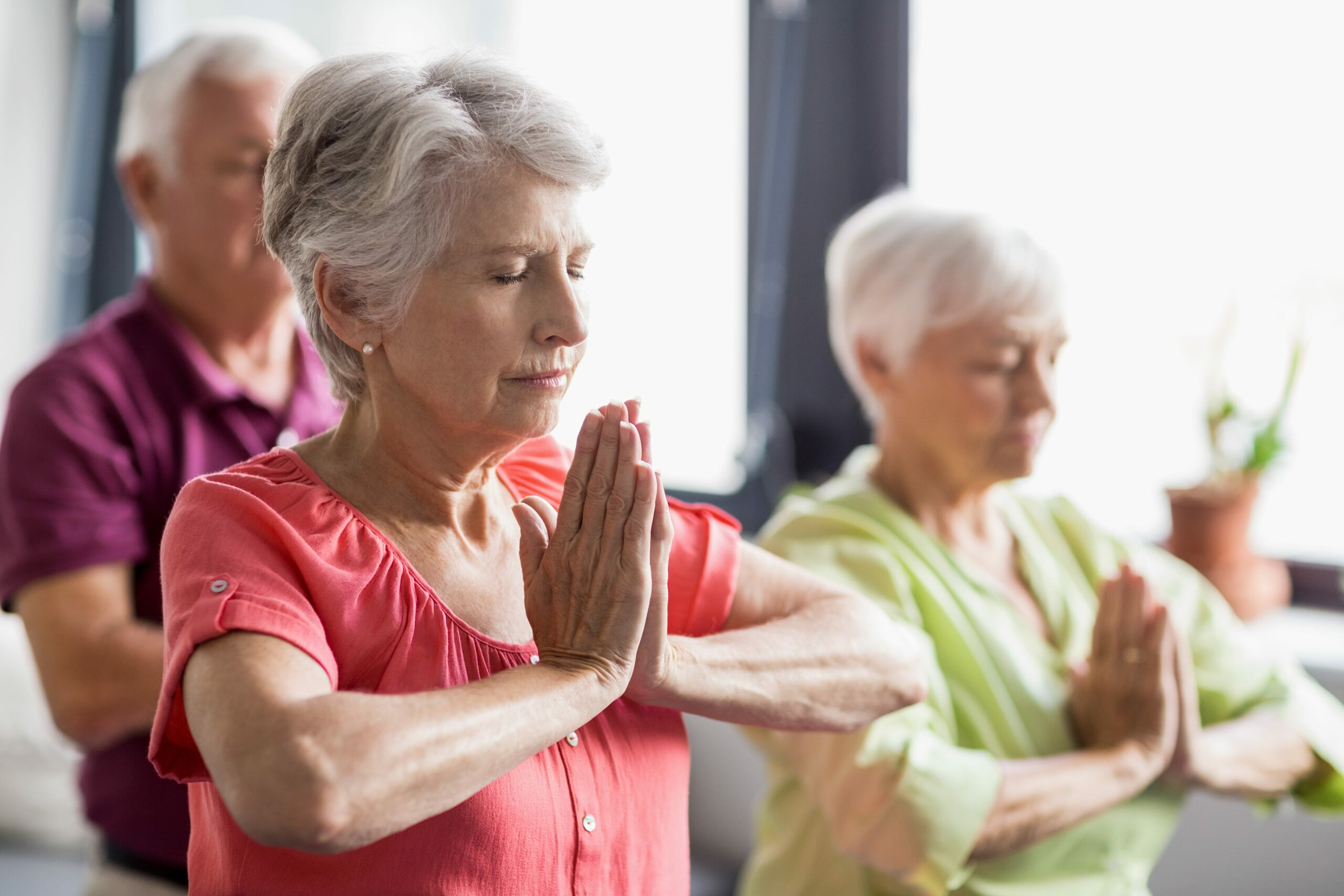 Senior yoga to promote healthy aging