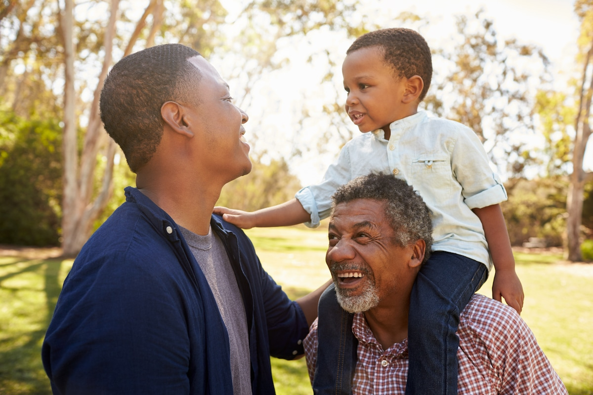 3 generations of men - grandpa, dad and son