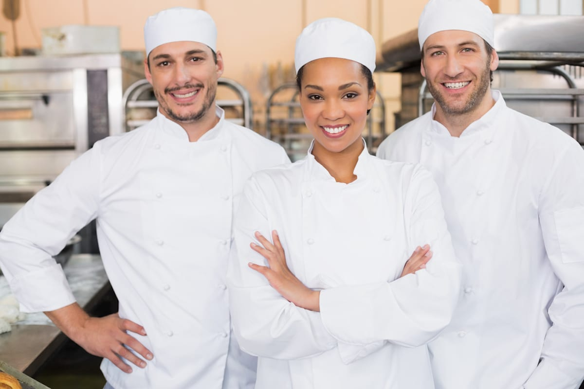 Team of foodservice professionals